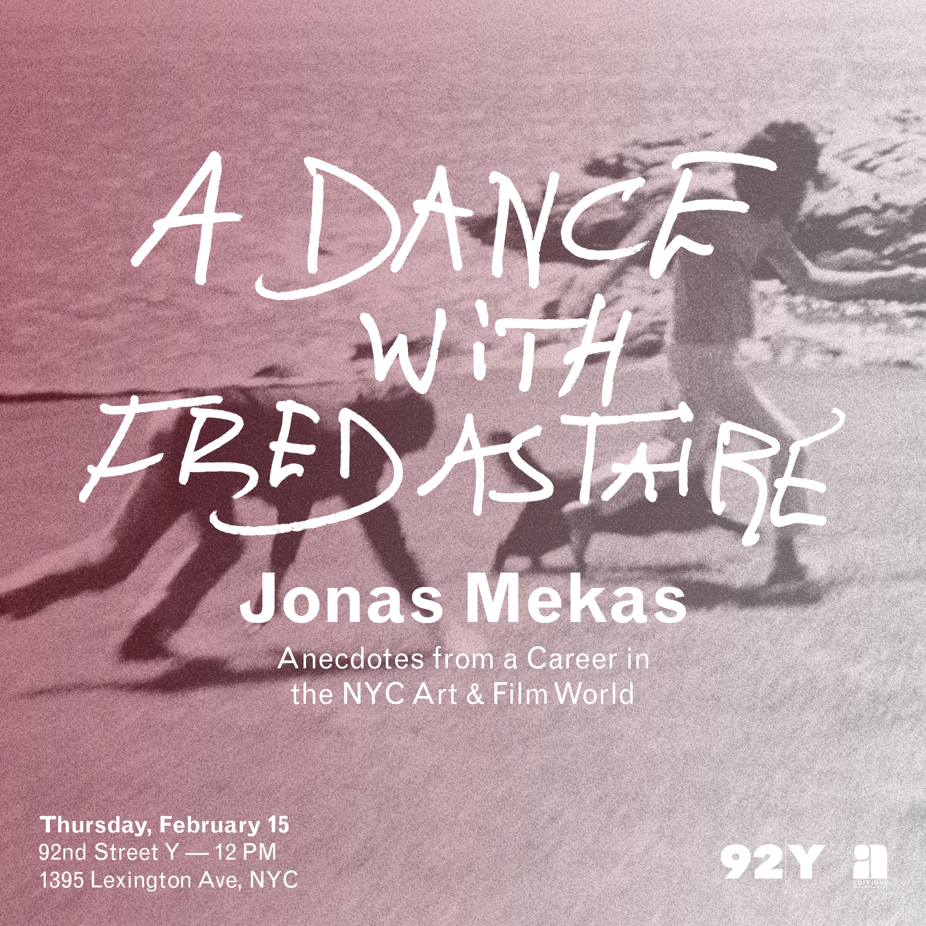Jonas Mekas - 92nd St Y Event Flyer
