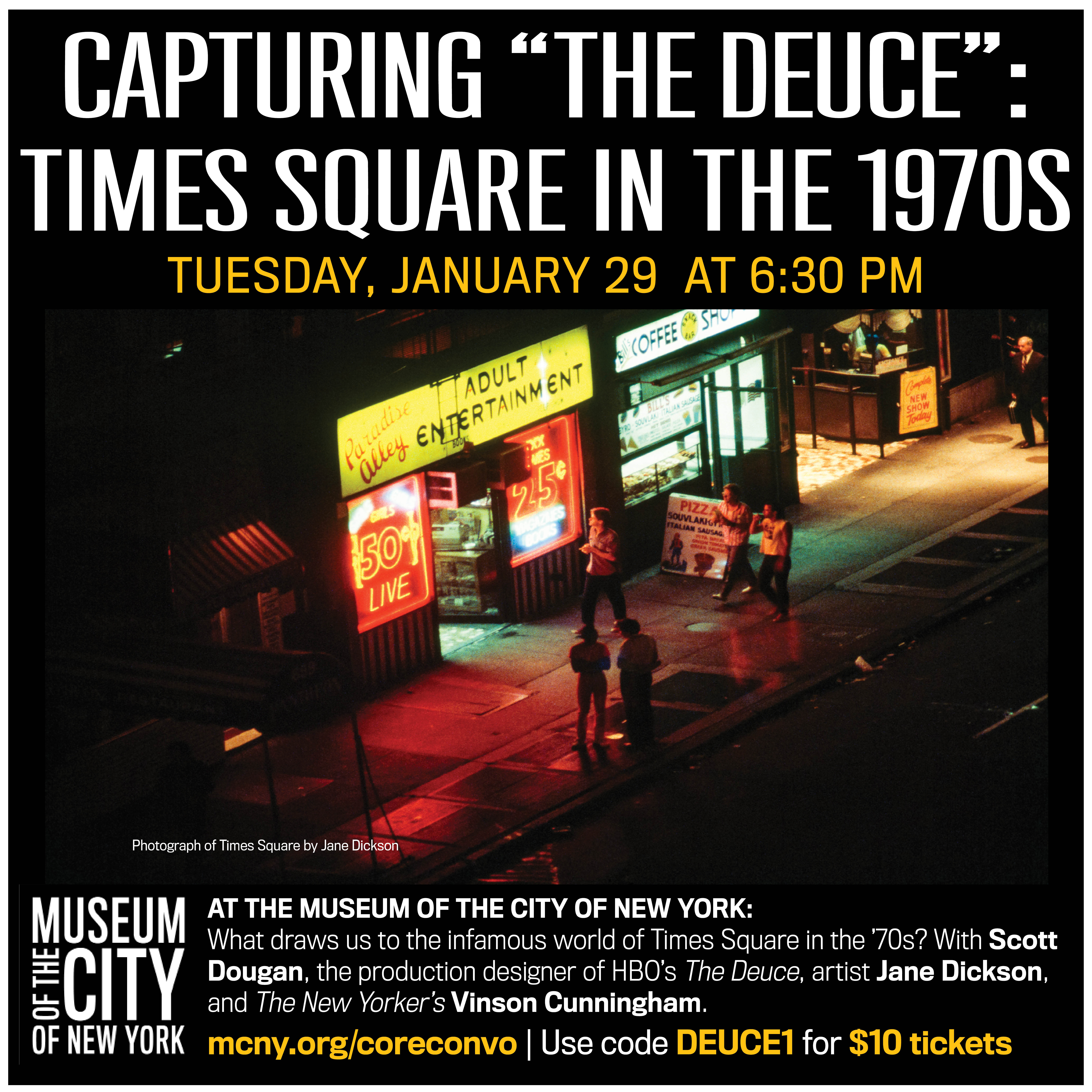 Jane Dickson in Times Square - Museum of the City of New York Event Image